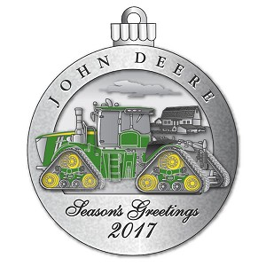 John Deere Limited Edition 2017 Pewter Christmas Ornament - 22nd in Series - LP68513