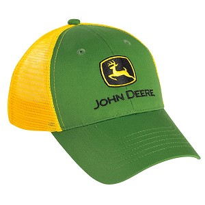 John Deere Youth Green Cloth and Yellow Mesh Cap - LP39527