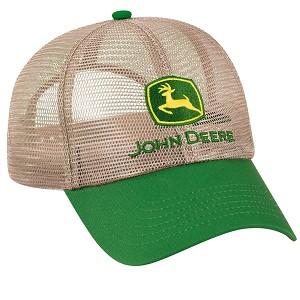cc1d956585d97b John Deere Full Mesh Cap Beige Green Visor - 262549
