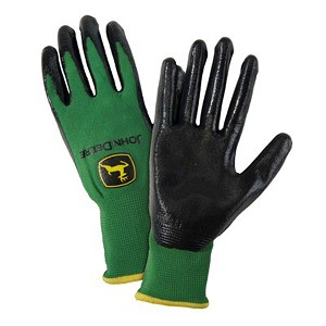 John Deere Mens Nitrile Coated Grip Glove - LP42425