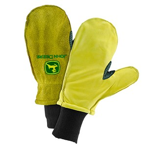 John Deere Men's Lined Cowhide Mitten - LP47721
