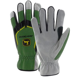 John Deere Men's Cowhide Glove with Spandex Back - LP67362 - LP67361 - LP67363